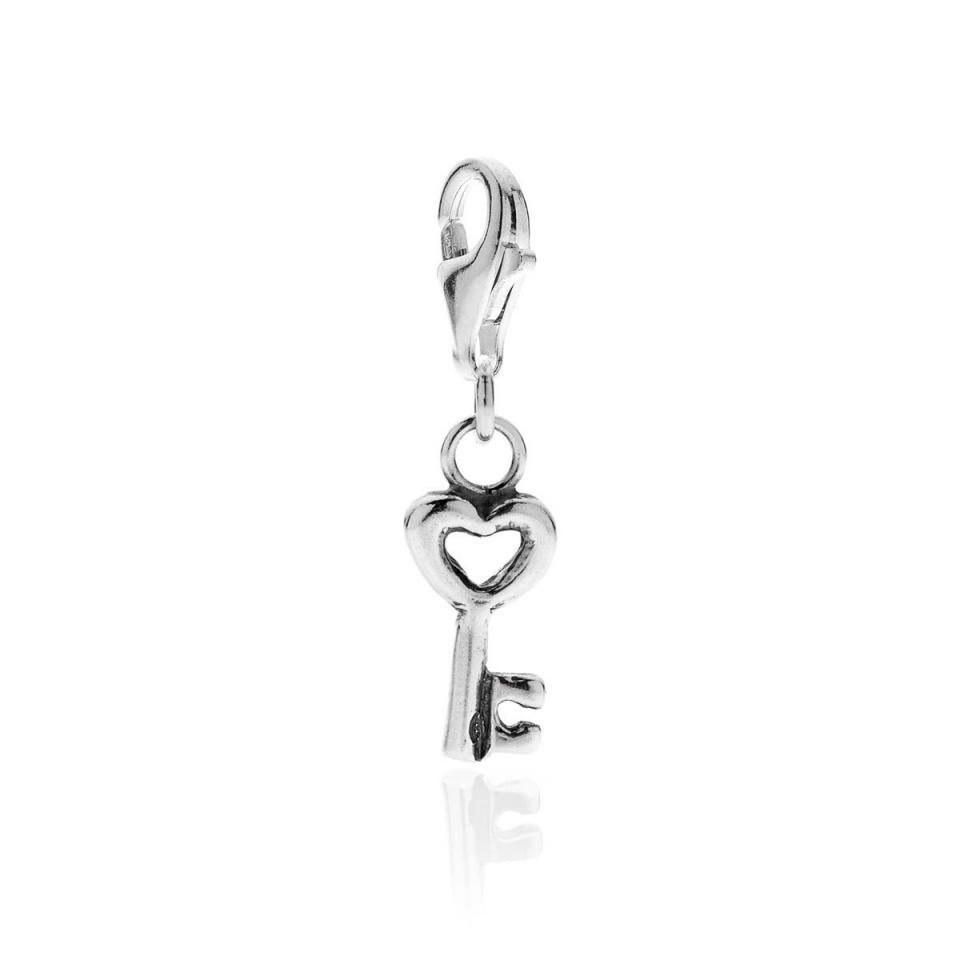 Heart Key CharmSilver dop jewels