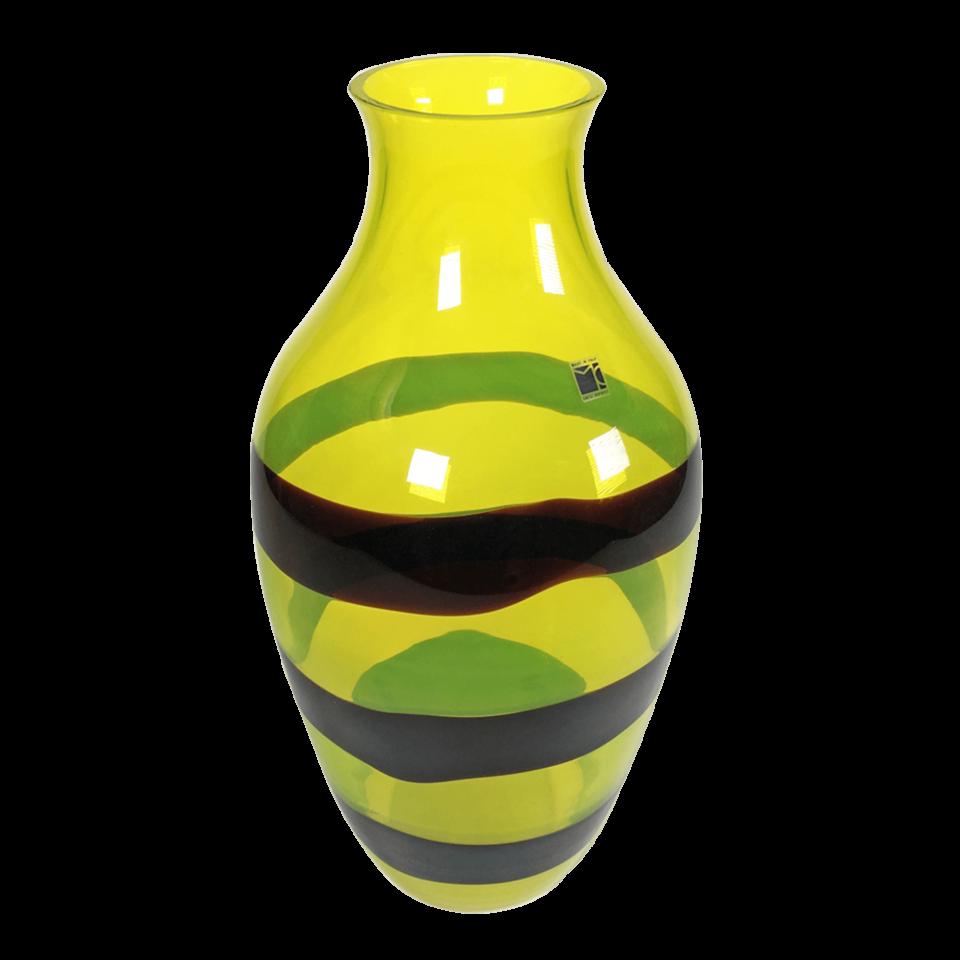 Carlo Moretti Yellow Murano Vase