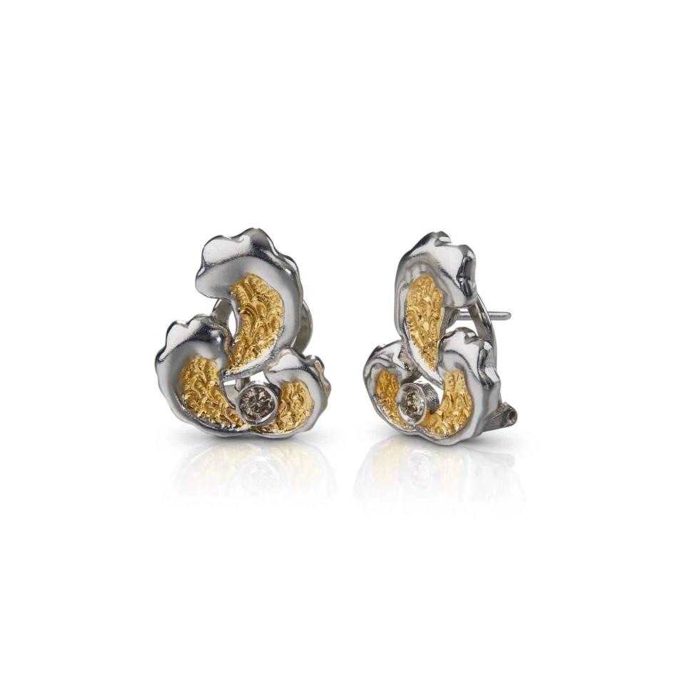 Silver Waves Earrings