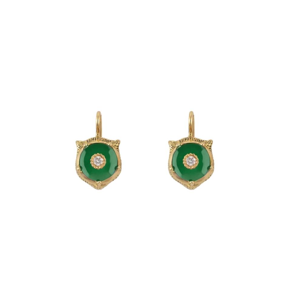 Gucci Le Marché des Merveilles Jade Earrings