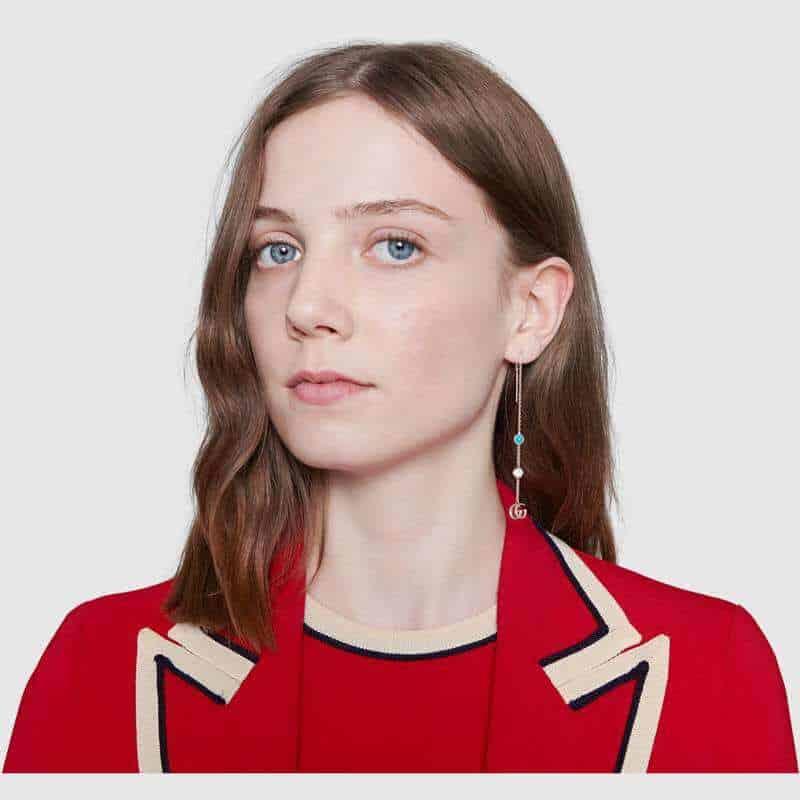 Gucci GG Marmont pendant earrings