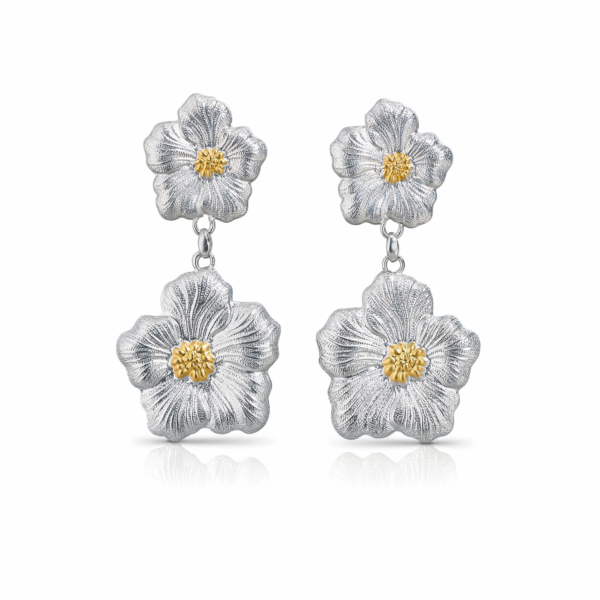 Gardenia Silver BUCCELLATI Earrings