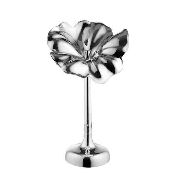 De Vecchi Flor Silver Medium Candlestick