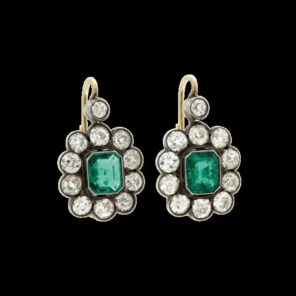 Antichi orecchini con smeraldi 1800