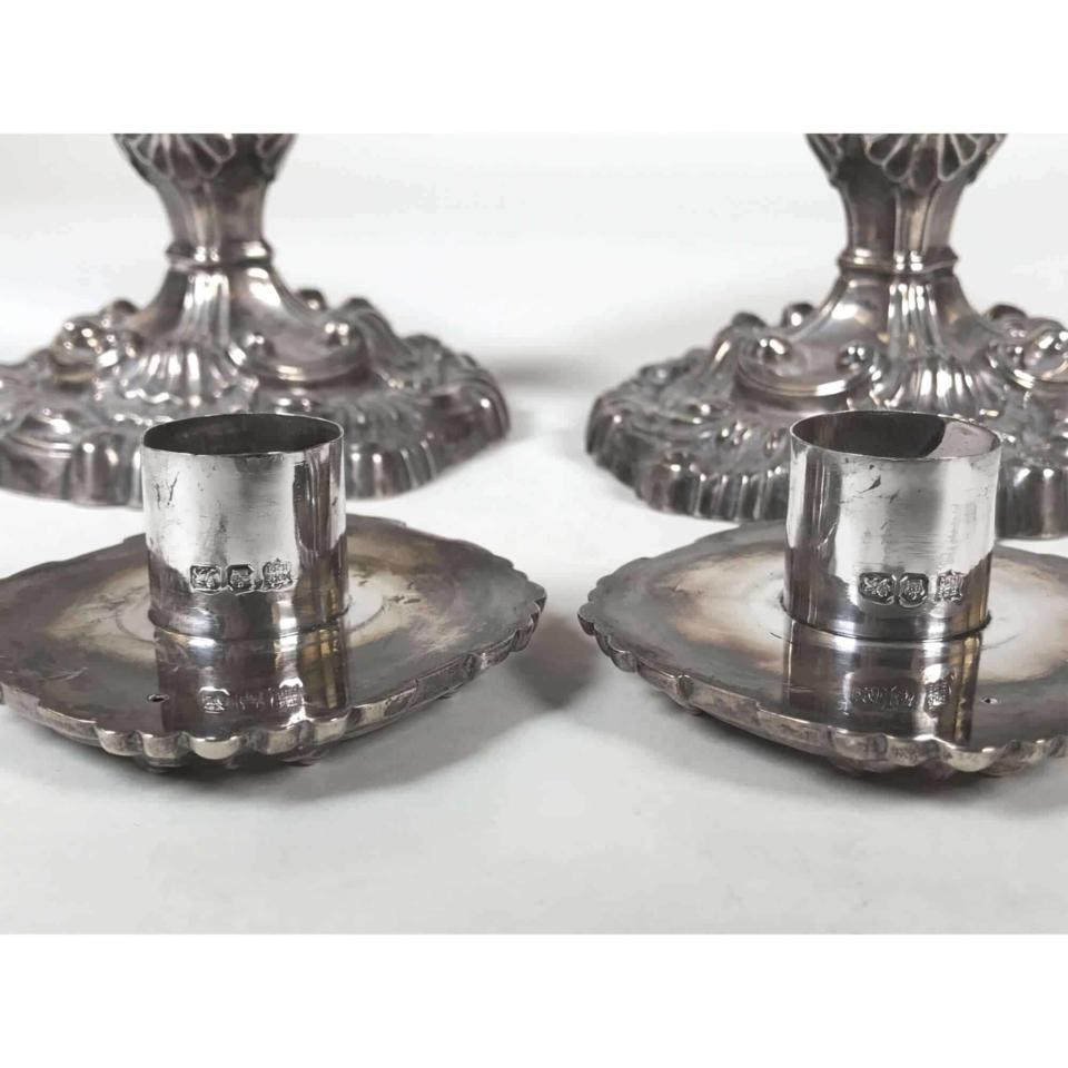 Coppia Candelieri argento 1898