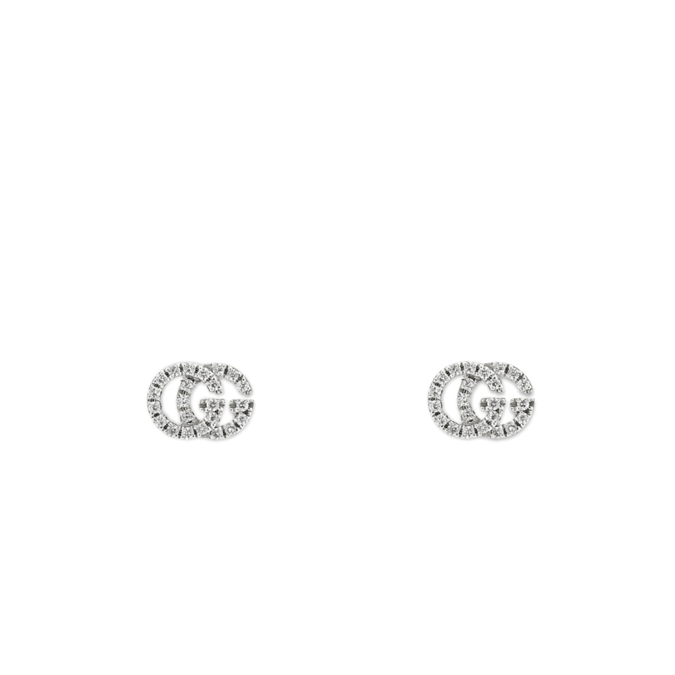 Gucci GG Running earrings diamonds