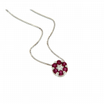 Small Flowers Necklace Sapphires and diamond