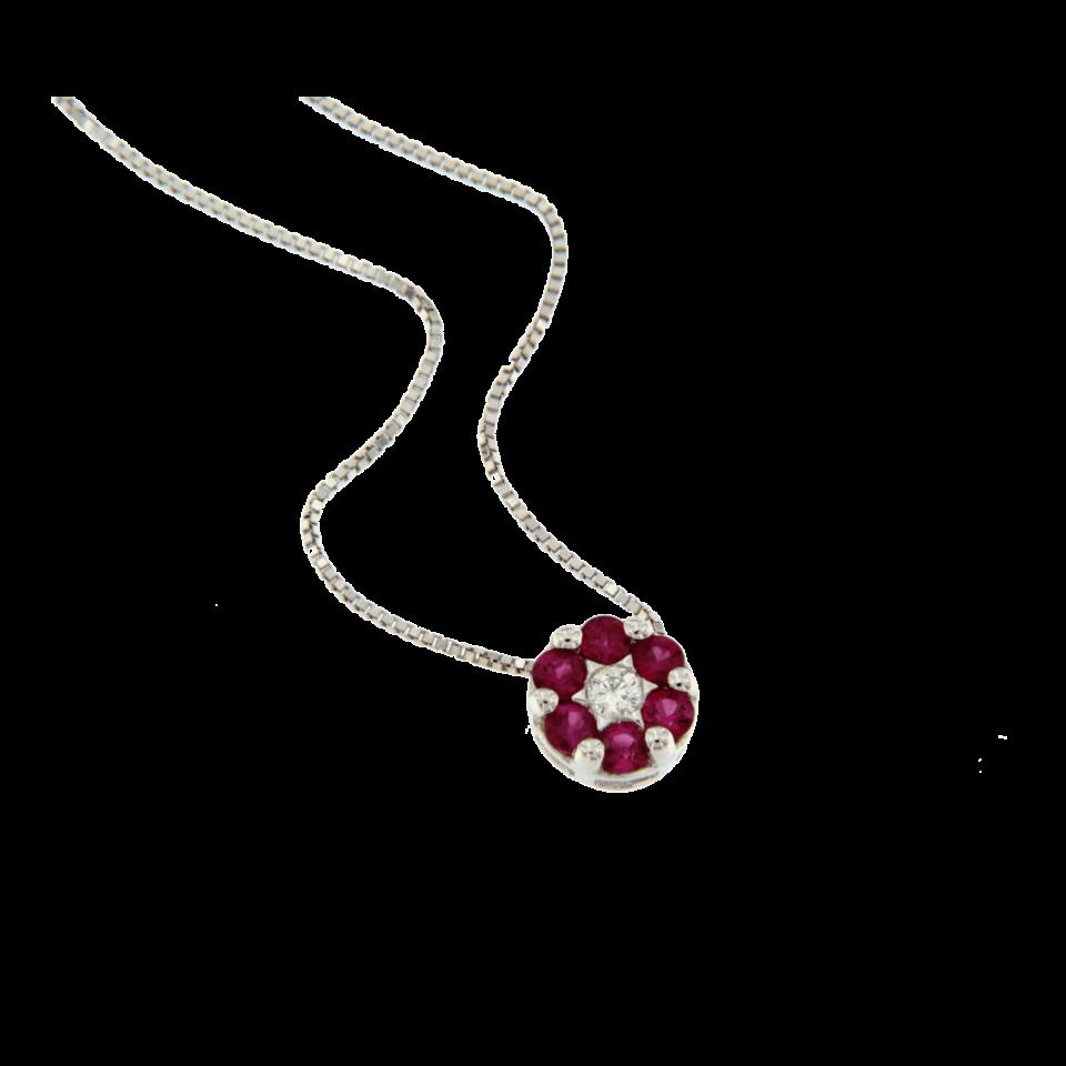 COLLANA FLOWERS rubini PICCOLO