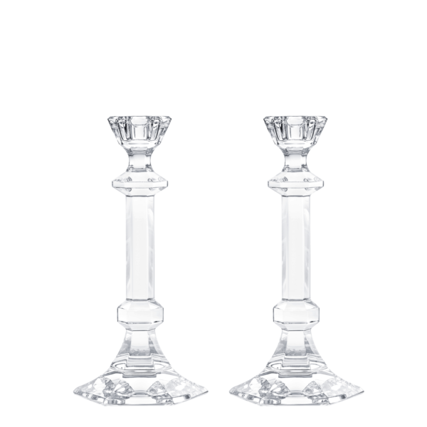 St. Louis Set of 2 large Jardy candlesticks