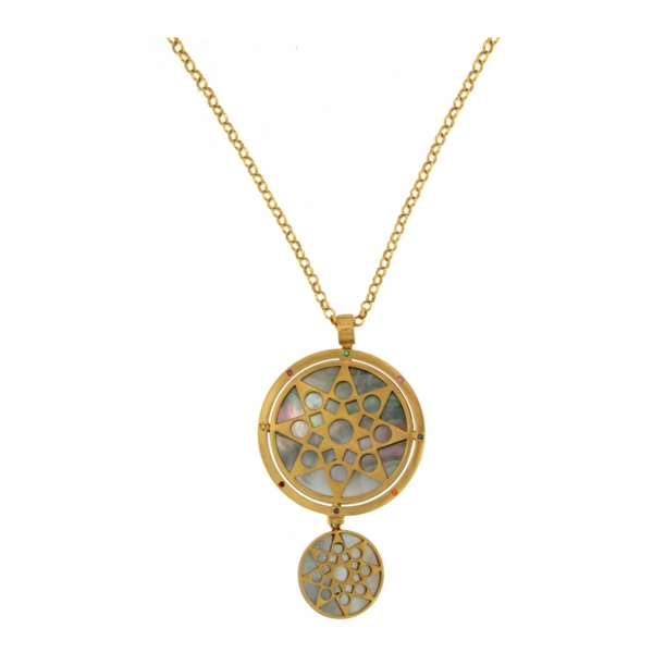 Necklace with Mandala pendant