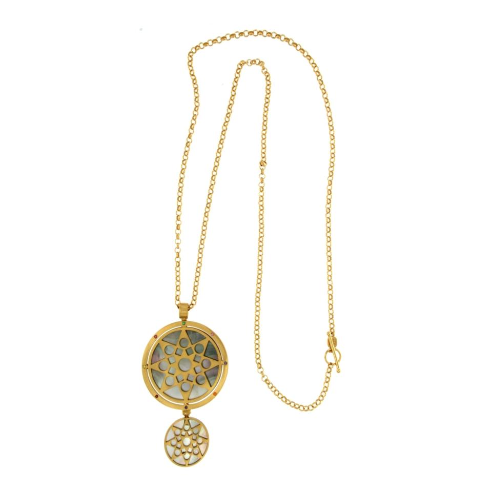 Necklace with Mandala pendant