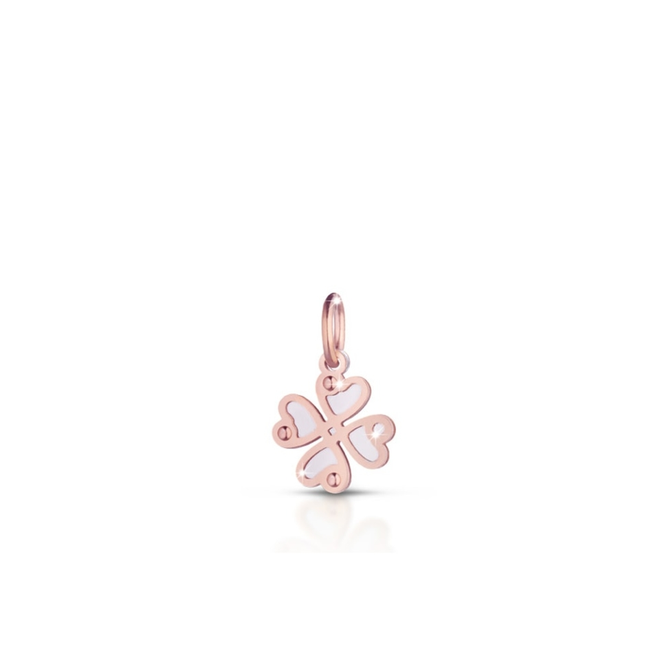 Silver four-leaf clover charm Lock Your Love