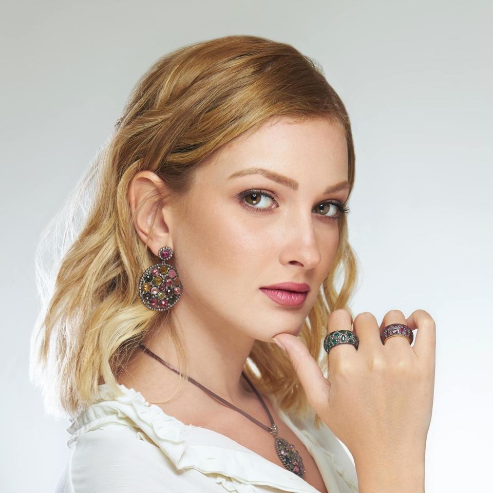 Round Oriental Earrings