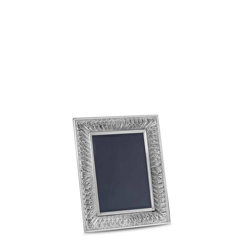 Silver Rouche Frame I