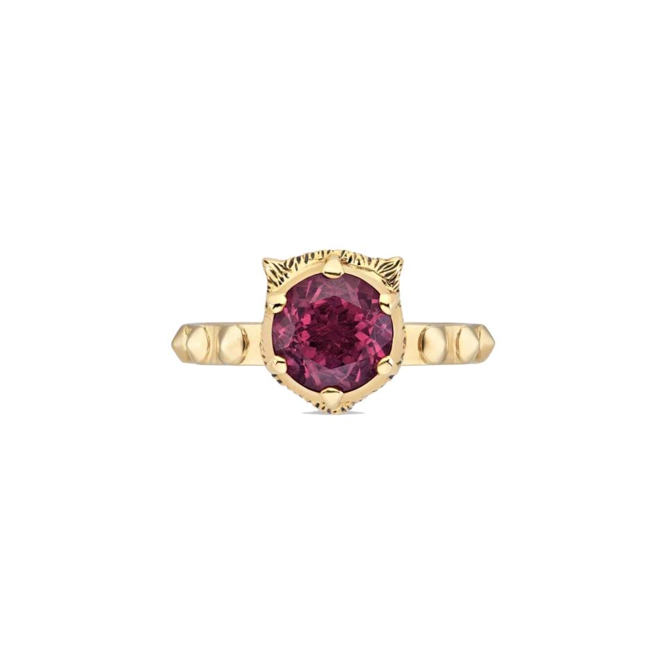 Gucci Le Marchè des Merveilles Pink tourmaline ring