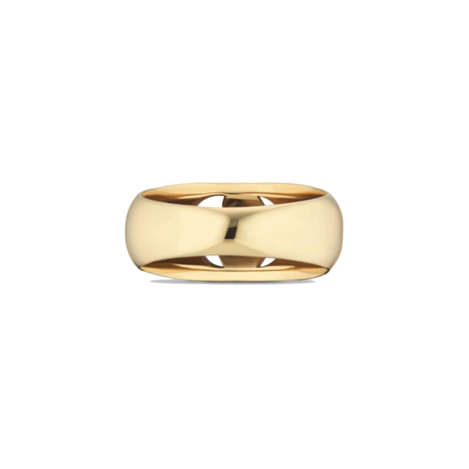 Yellow gold ring with GG Running; Chevalier