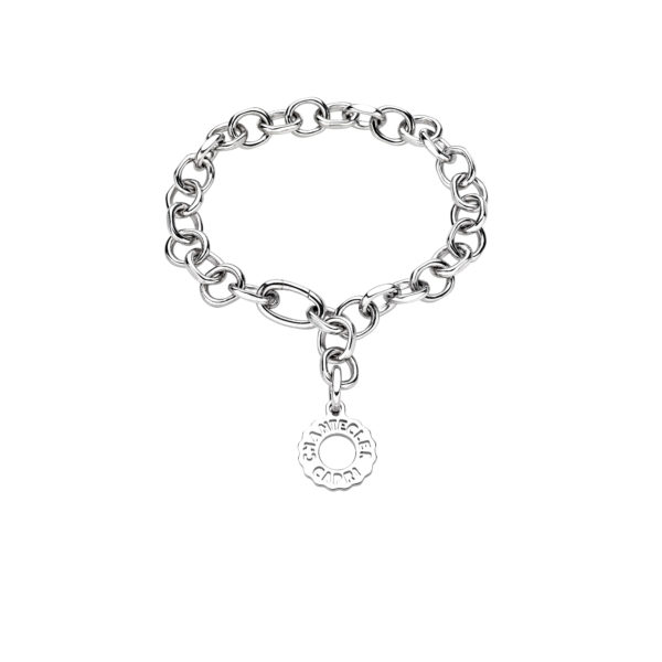 Chantecler Bracciale maglie ovali in argento logo