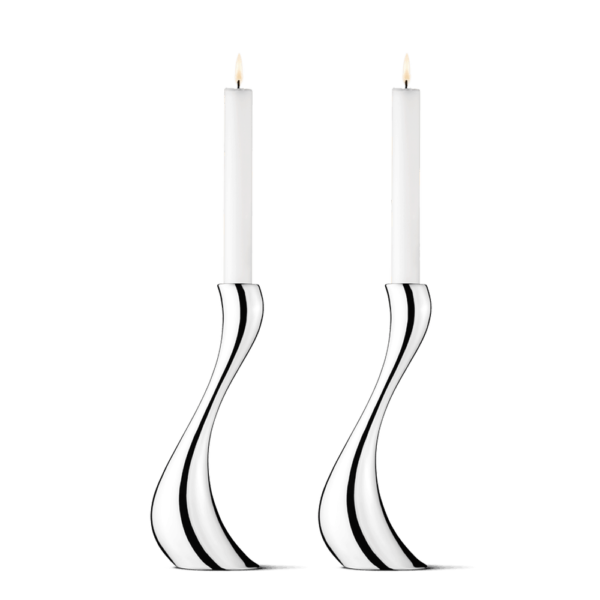 Cobra candlesticks set 2 pieces