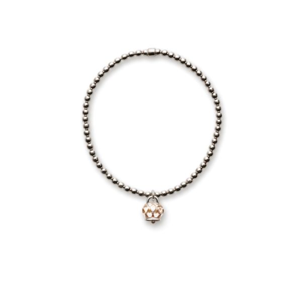 Elastic bell bracelet pink shade