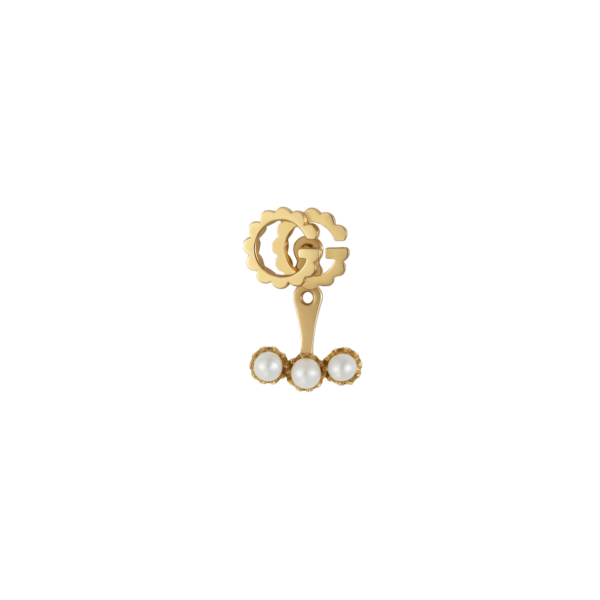 Single GG Running earring with pearls