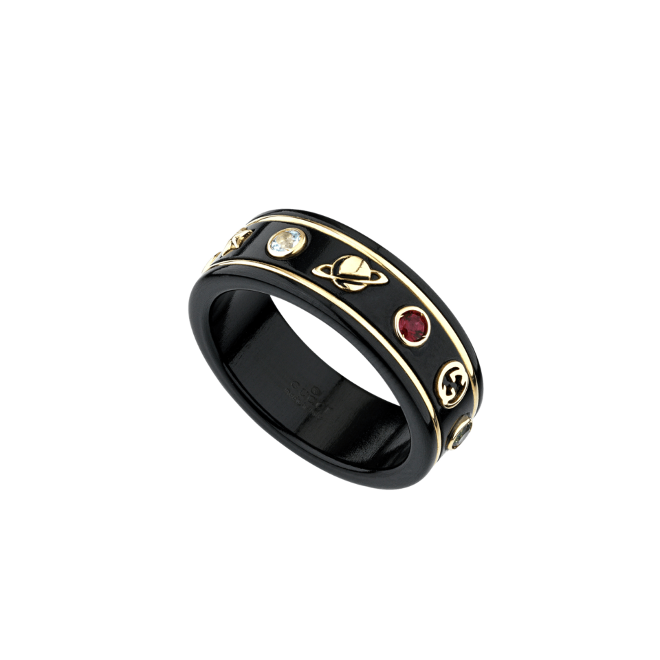 Anello GUCCI Icon corindone nero