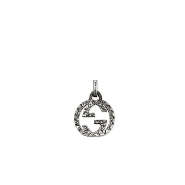 Ciondolo Gucci Charm in argento brunito