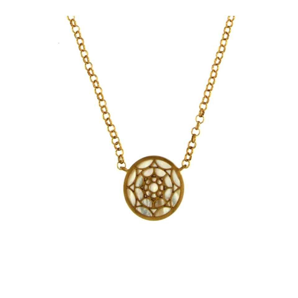 Mother-of-pearl Mandala Necklace