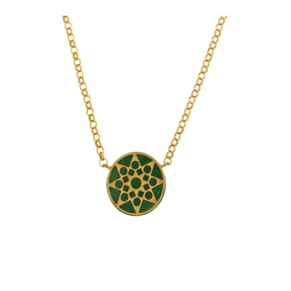 Mandala malachite necklace
