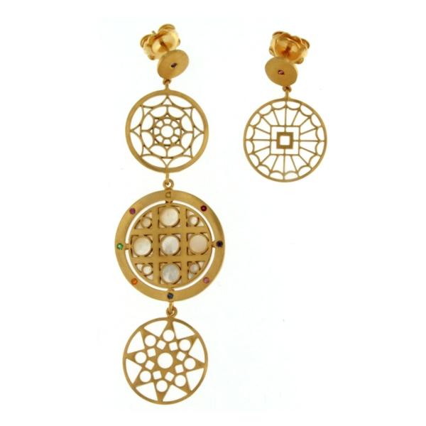 Mandala Mono Earring