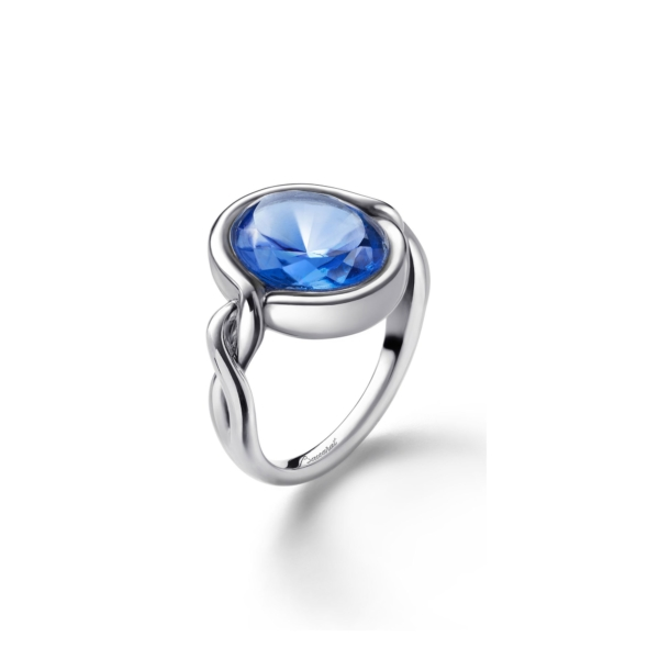 Croisè Blue Silver Ring