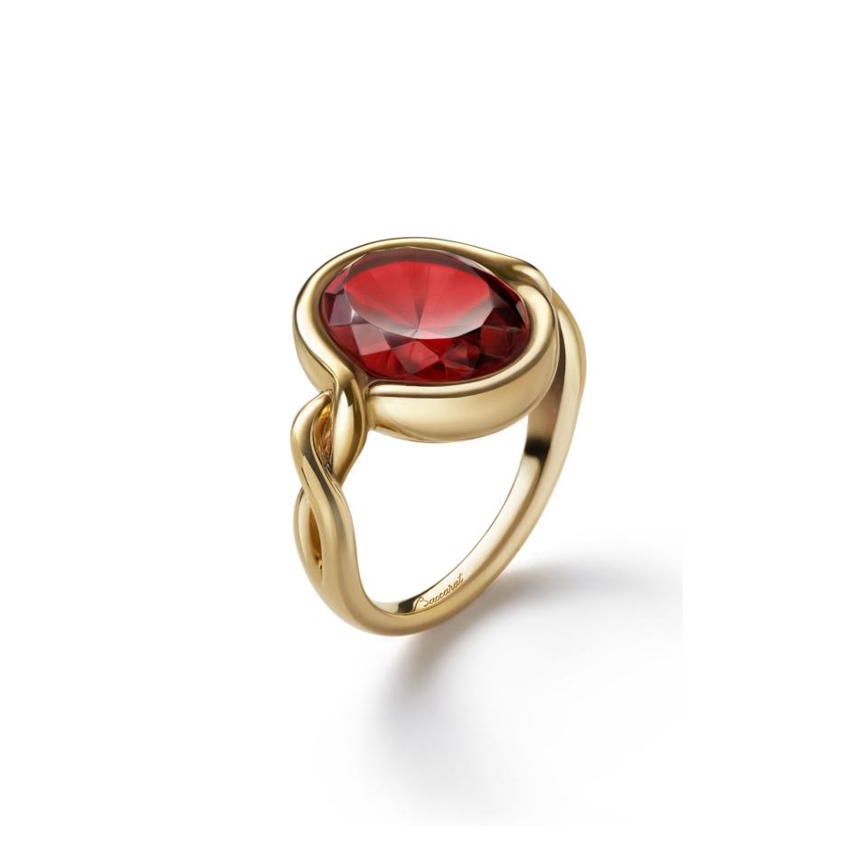 Croisè Anello Rosso Vermeil