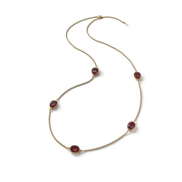 Croisè Long Necklace Red Vermeil