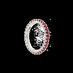 Anello veretta oro rosa diamanti brown