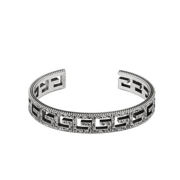 Rigid bracelet GUCCI G Quadro motif