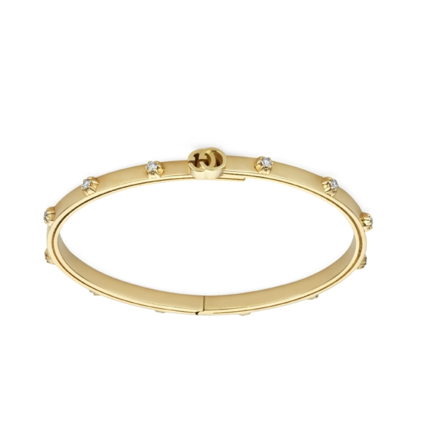 Yellow gold bracelet with GG Running
