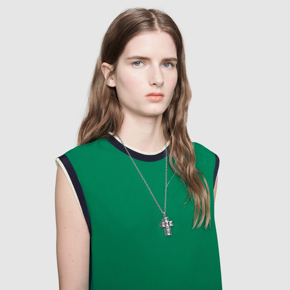 Necklace with GUCCI G Quadro
