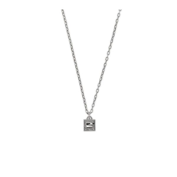 GUCCI G Quadro cube necklace in silver