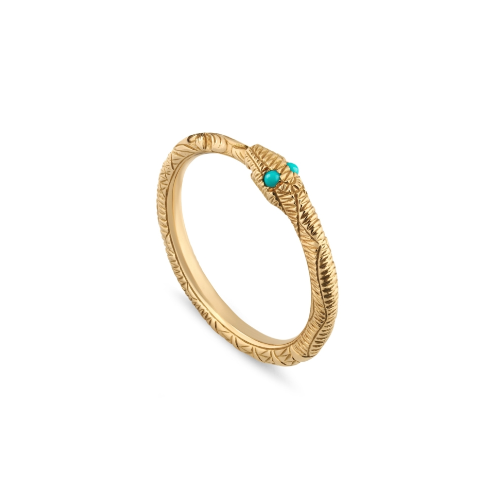 GUCCI Ring  Ouroboros in gold