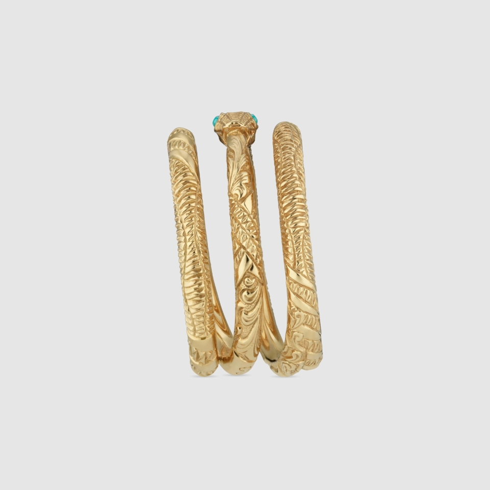 Gucci Ring Ouroboros in yellow gold