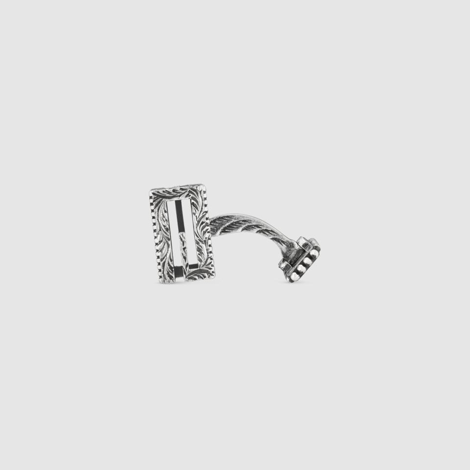 Cufflinks GUCCI G Quadro in silver