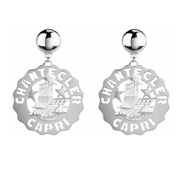 Large square earrings Chantecler