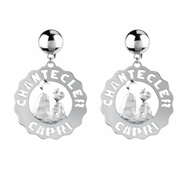 Earrings large stacks in silver Chantecler