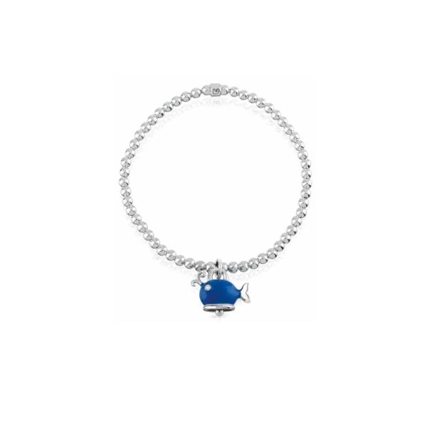 Elastic bracelet with whale pendant Chantecler