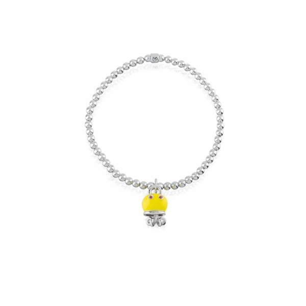 Elastic bracelet with octopus pendant Chantecler