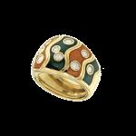 Orecchini Bulgari Vintage oro giallo smalto brillanti Anni 50