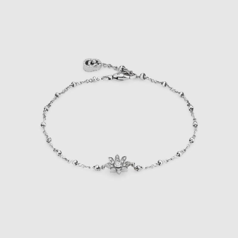 Bracciale Gucci con fiore e diamanti