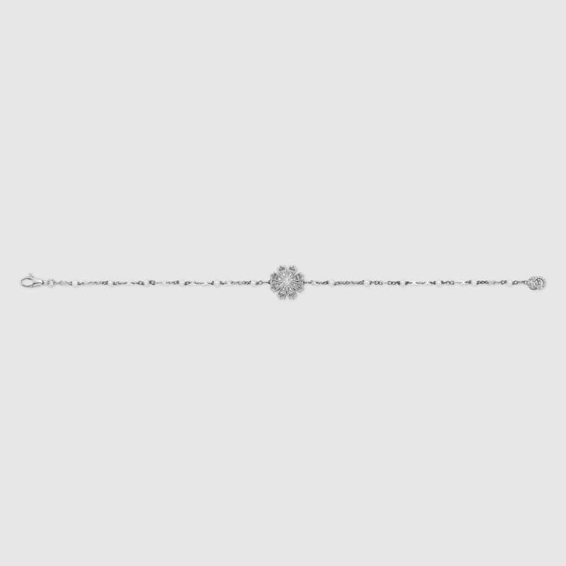 Bracciale Gucci con fiore, diamanti e perle
