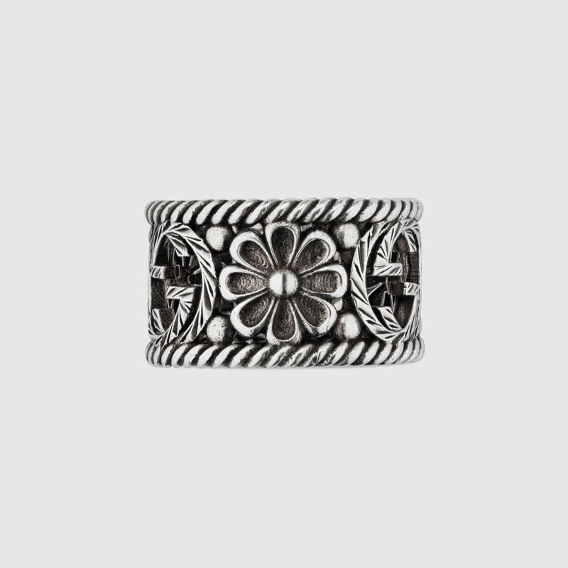 Anello Gucci GG in argento