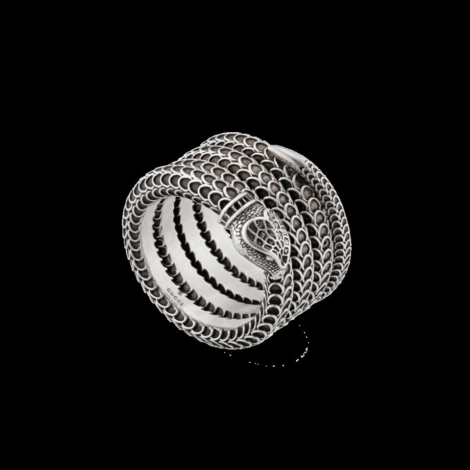 Anello a serpente Gucci Garden in argento