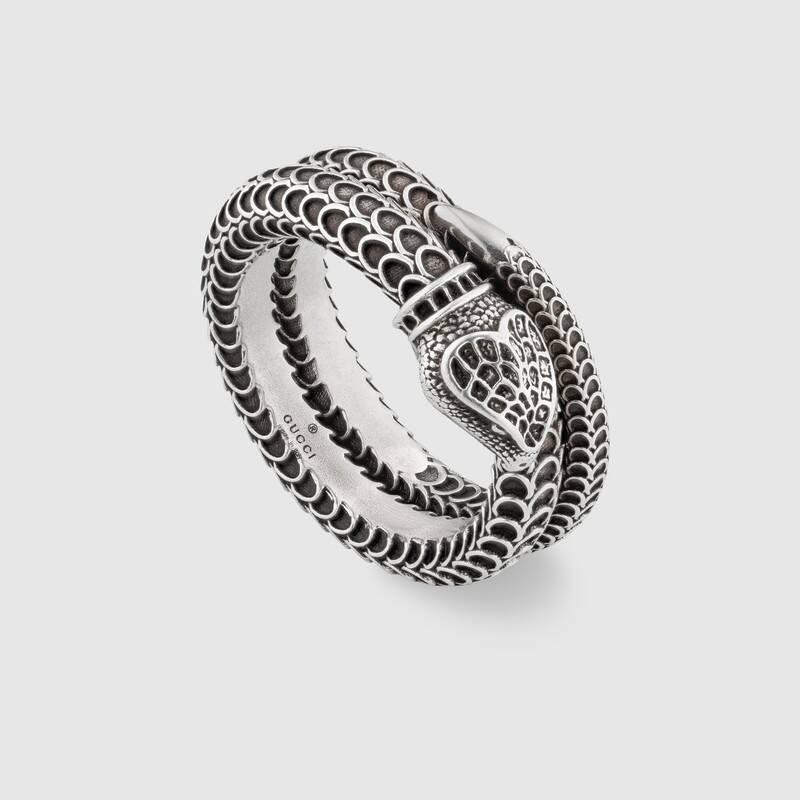 Anello serpente Gucci Garden in argento